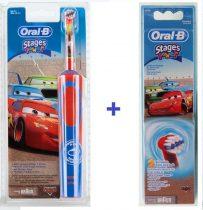 Braun Oral-B Advance Power 900 Kids gyerek elektromos fogkefe  (D12513) verdás + EB 10-2 pótkefe csomag