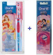 Braun Oral-B Advance Power 900 Kids gyerek elektromos fogkefe (D12513K) hercegnő + EB 10-2 pótkefe csomag