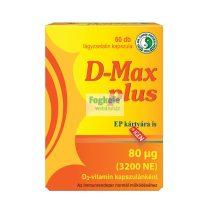 D-Max Plus D3-vitamin kapszula - 60db