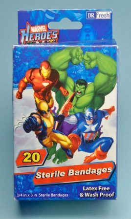Marvel Heroes Banadages 20db steril sebtapasz