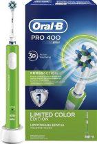 Oral-B PRO 400  D16.513  elektromos fogkefe 1 pótkefével ZÖLD + ajándék