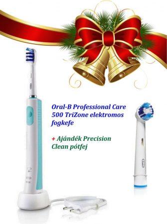 Oral-B ProfessionalCare 500 TriZone elektromos fogkefe Karácsonyi Csomag