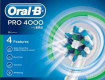 Oral-B PRO 4000  D20.535.4  elektromos fogkefe 3 pótkefével