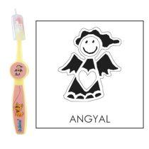 Ovis fogkefe: ANGYAL- rózsaszín