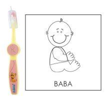 Ovis fogkefe: BABA - rózsaszín