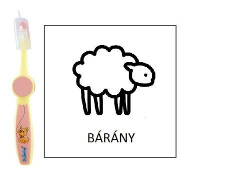 Ovis fogkefe: BÁRÁNY - rózsaszín