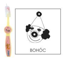Ovis fogkefe: BOHÓC - rózsaszín