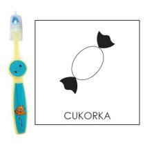 Ovis fogkefe: CUKORKA - kék