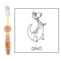 Ovis fogkefe: DINO - rózsaszín