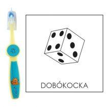 Ovis fogkefe: DOBÓKOCKA - kék