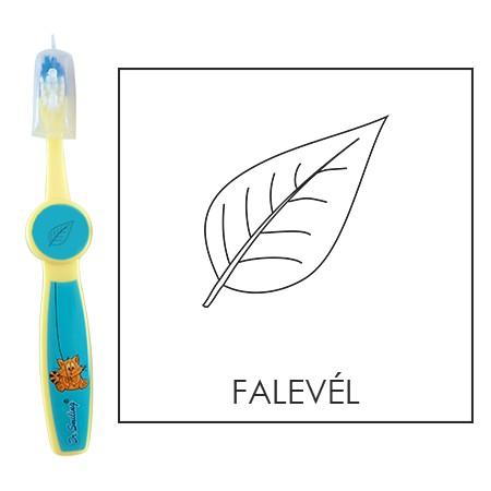 Ovis fogkefe: Falevél - kék