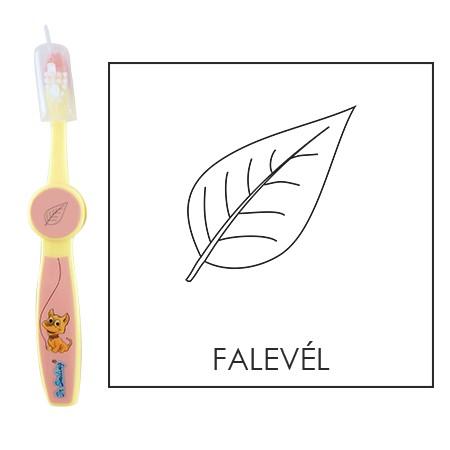 Ovis fogkefe: Falevél - rózsaszín