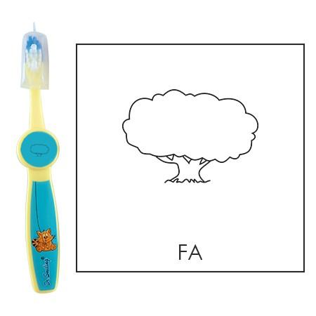 Ovis fogkefe: FA ( LOMBOS ) - kék