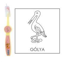 Ovis fogkefe: GÓLYA - rózsaszín