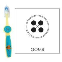 Ovis fogkefe: GOMB - kék
