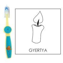 Ovis fogkefe: GYERTYA - kék