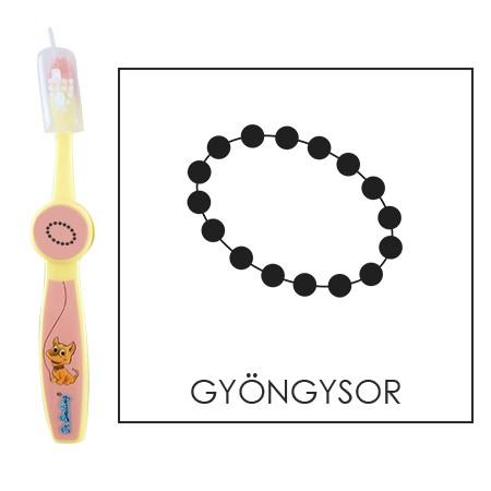 Ovis fogkefe: GYÖNGYSOR - rózsaszín