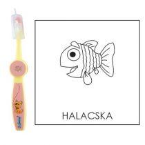 Ovis fogkefe: HALACSKA - rózsaszín
