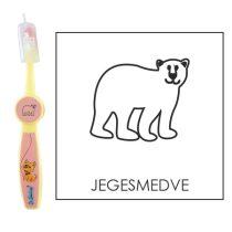 Ovis fogkefe: JEGESMEDVE - rózsaszín
