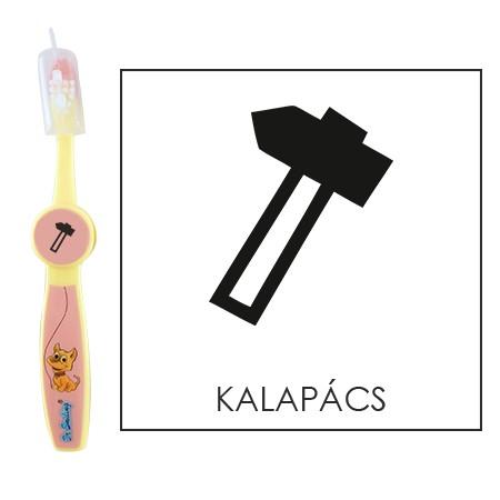 Ovis fogkefe: KALAPÁCS- rózsaszín