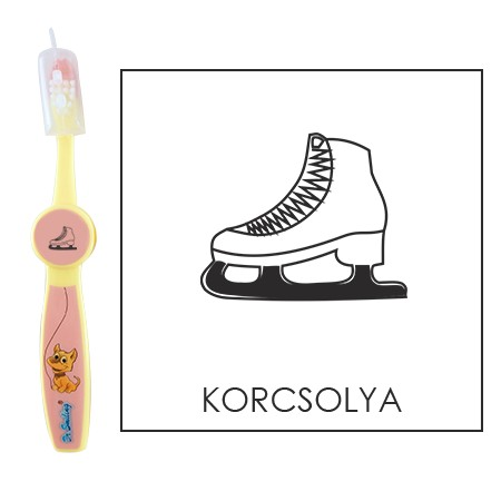 Ovis fogkefe: KORCSOLYA- rózsaszín