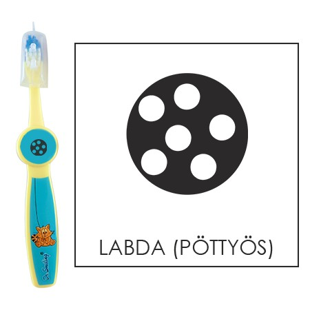 Ovis fogkefe: LABDA (PÖTTYÖS) - kék