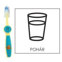 Ovis fogkefe: POHÁR - kék