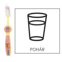 Ovis fogkefe: POHÁR - rózsaszín
