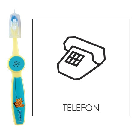 Ovis fogkefe: TELEFON - kék