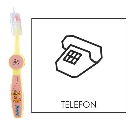 Ovis fogkefe: TELEFON - rózsaszín
