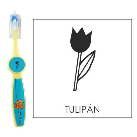 Ovis fogkefe: TULIPÁN - kék