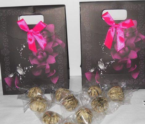 KUPON Virágzó tea csomag - 5 db virágzó tea, ajándék csomagolásban