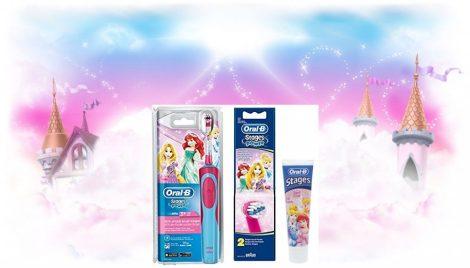 Oral-B gyermek elektromos fogkefe hercegnős csomag